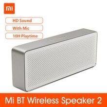Колонка Xiaomi Mi BT Square Box 2, стерео, HD качество звука, колонки с басами, музыкальный аудиоплеер, музыкальный усилитель с микрофоном