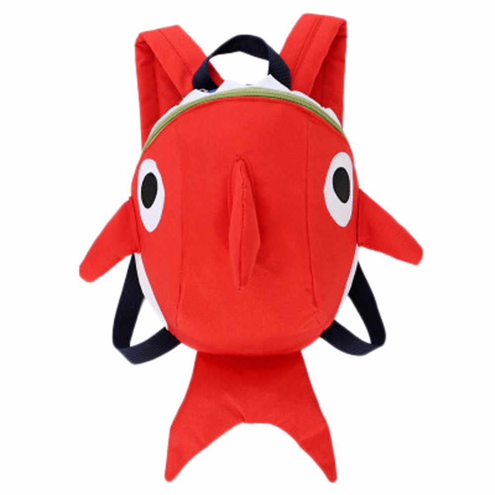3D rysunkowy rekin dziecko torba chłopiec dziewczyna wodoodporne plecaki dla dzieci dzieci mała torba dziewczyna słodkie zwierzę drukuje torby podróżne zabawki prezenty