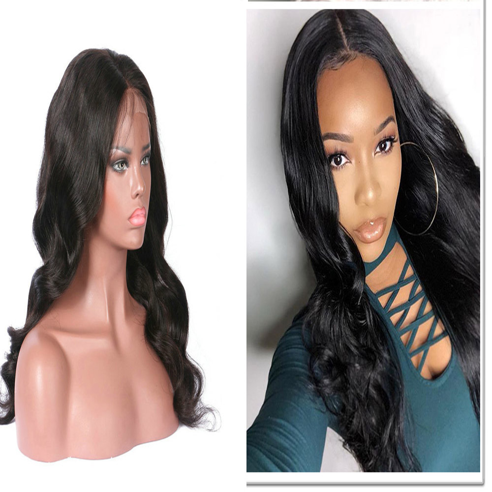 Body Wave Glueless Full Lace Human Hair Wigs Pre-Plucked 180 Density  Brazilian Lace Wig With Baby Hair Ship Free