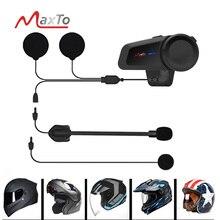 Maxto M2 Wasserdicht 1000M Universal Motorrad Helm Intercom Headset für Voll/Halb Gesicht Bluetooth 5,0 FM MP3 Casco sprech