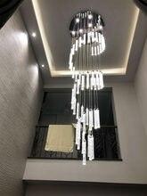 Люстра для высоких потолок вилла лестница подвесной спиральный