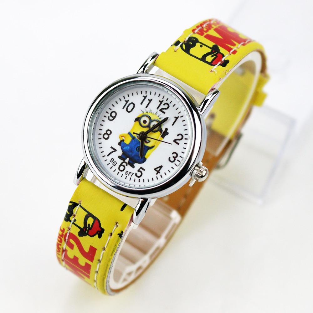 Cartoon Children Watch Girls Boys Kids Leather Strap Quartz Wrist Watches Fashion Students Clock Baby Watch Birthday Gifts