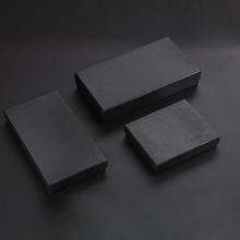 Dostosowane grawerowane Logo portfel pudełko czarny trzy modele papier pudełko na biżuterię górna i dolna pokrywa wysokiej jakości portfel pudełko tanie tanio DEEZOMO Pasek torby 0 05 QBDK01 Wallet gift box Customizable LOGO 12 8X10 5X2 5cm 5X4 1X1 inch 19 8X10 5X2 5CM 7 8X4 1X1 inch