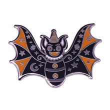 Sombrero mágico de murciélago volador para fiesta, insignia de Halloween con alfiler Celestial, puede ser un succionador de sangre escalofriante, pero bonita