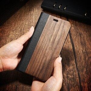 Image 4 - Funda de madera de bambú para iPhone, Funda de cuero PU Mini para iPhone 12, 11 Pro, 11, 12, XR, X, XS, Max, 7, 8 Plus