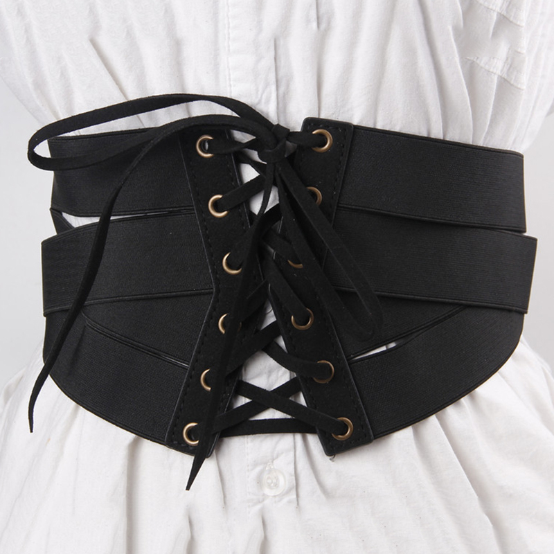2020 New Design High Fashion Leather Belts For Women Solid Zipper Drawstring Corset Belt Elastic Waistband Female Trendy ZL096