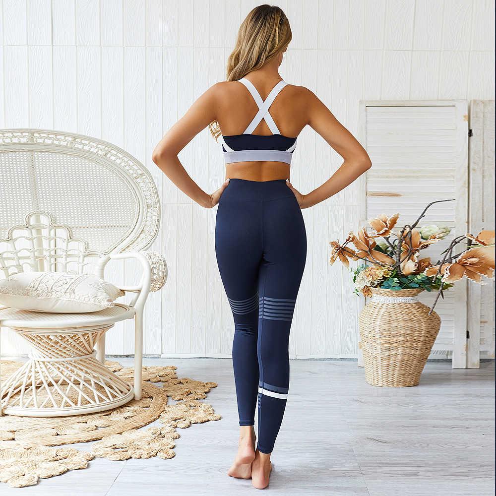 Mulheres conjunto de yoga sem costura leggings cintura alta esporte terno ginásio sportwear fitness workout conjunto yoga bra + calças esporte terno