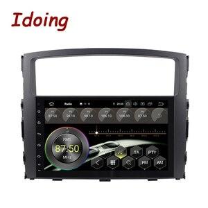 Image 3 - Idoing Volante Multimedia con GPS para coche, Radio con navegador, Android 10, 9 pulgadas, 4G + 64G, PX6, 2DIN, unidad frontal de Radio, para MITSUBISHI PAJERO V97