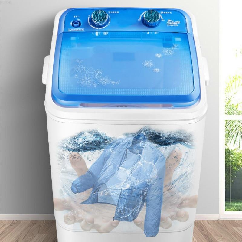 7kg Large Capacity Semi-automatic Washing Machine Portable Washing Machine  Mini Washing Machine  Washer And Dryer 220V