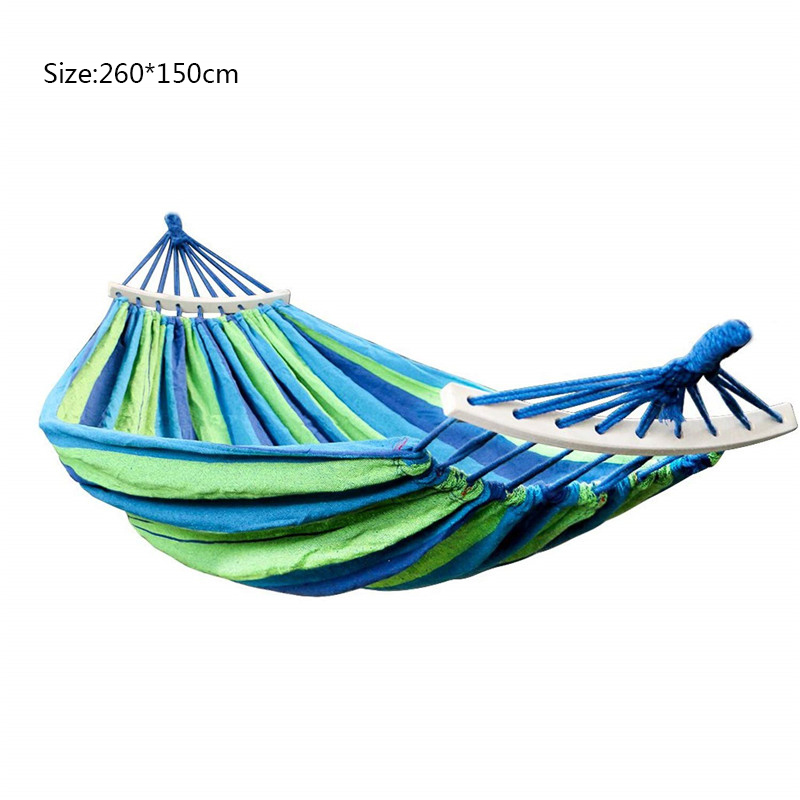 Outdoor Double Canvas Hammock Portable Travel Camping Hanging Chair Swing Chair Hammock Tent Free Shipping(China)