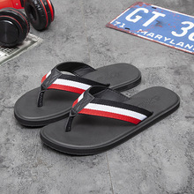 Summer flip flops men's personality outside wearing beach shoes summer outdoor pinch couples slippers men's tide fashion sandals