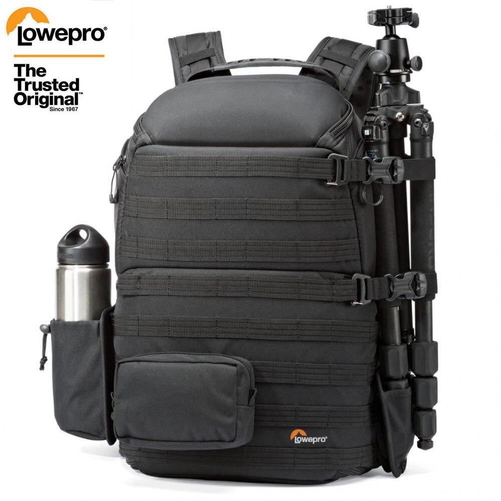 Genuine lowepro protactic 450 aw ombro saco da câmera slr saco da câmera mochila para computador portátil com todas as condições meteorológicas capa 15.6 Polegada lapto