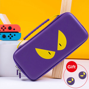 Image 1 - Nintend Switch Storage Bag Purple Devil Travel Case NS Hard Shell Cover Waterproof Box For Nintendo Switch Lite Game Accessories