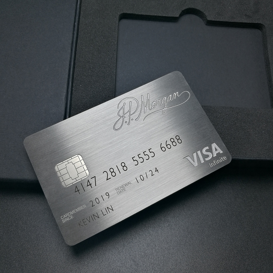 Metal card black card and production American express gift card 5