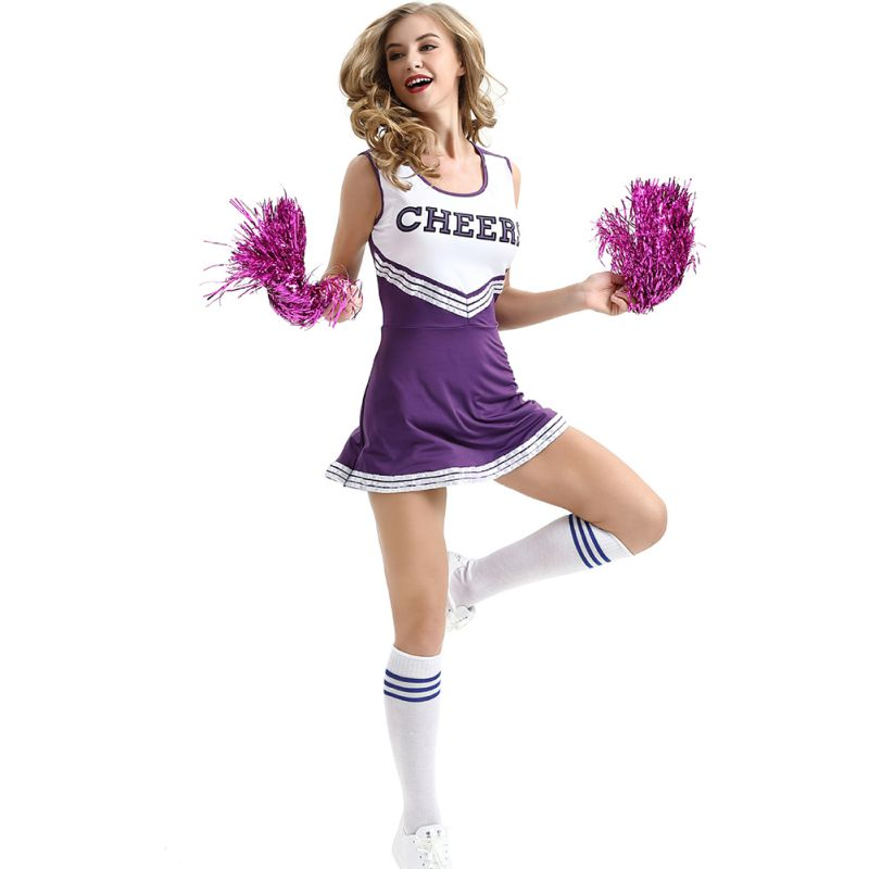Female School Girl Music Cheerleader Fancy Dress Outfit Uniform High School Musical Costume Sexy Stage Performance