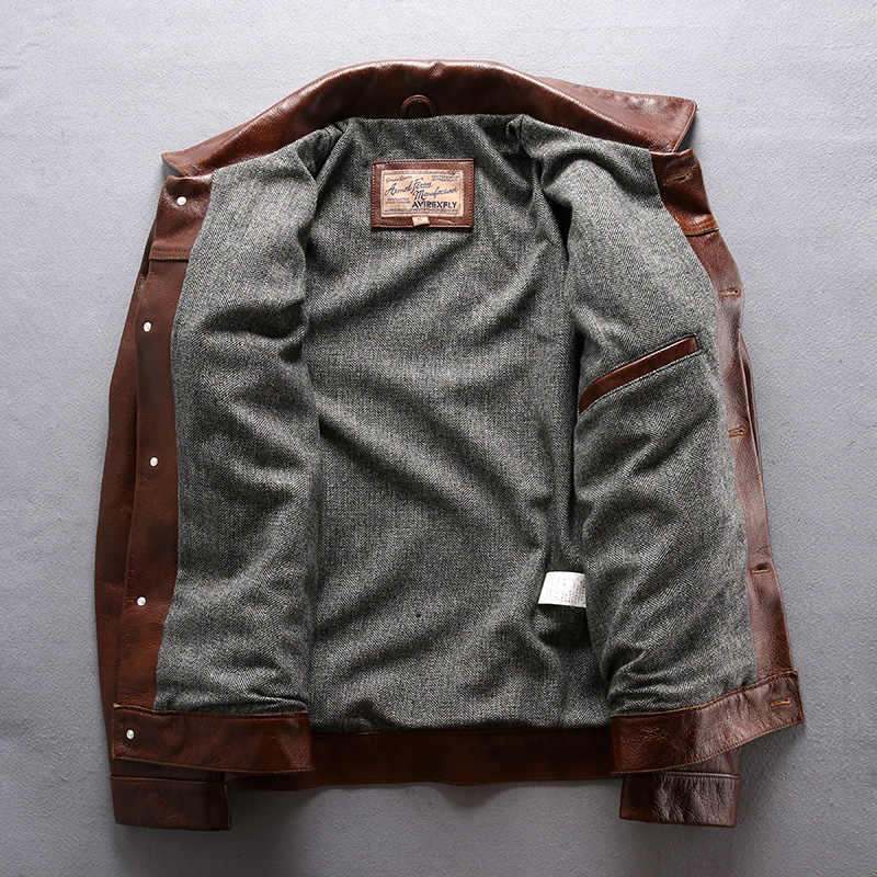 1723-A прочитайте описание! Азиатский размер натуральная коровья кожа кожаная куртка мужская повседневная винтажная байкерская куртка 507XX