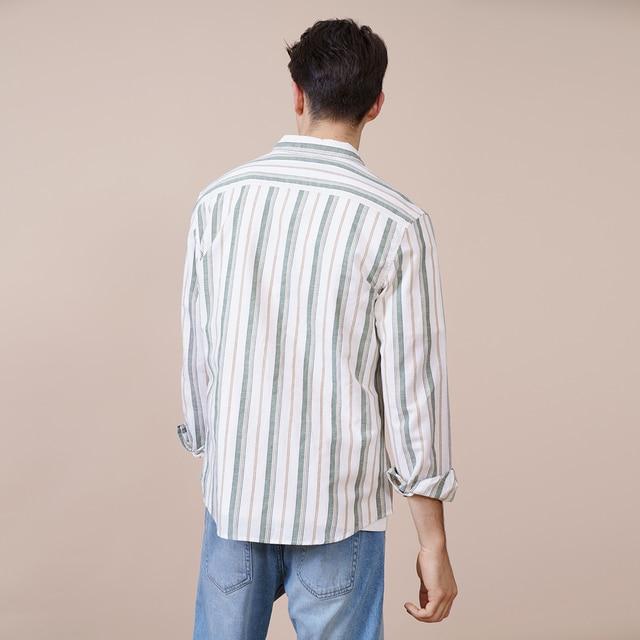 Vertical stripped Shirts made of linen