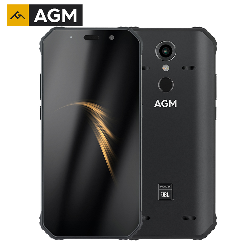 """AGM A9 Rugged Smartphone Qualcomm SDM450 Octa core 5.99""""FHD+ 5400mAh Quick Charge 4G 64G 32G Android 8.1 Quad Box Speakers NFC
