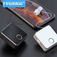 FineBlue Airmax aluminium alloy long battery life Stereo Handsfree retractable Built in Mic bluetooth earphones for running