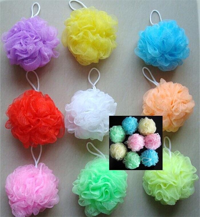 1 pièces douche lavage éponge produit baignoires Cool balle bain épurateur corps nettoyage maille bain boule