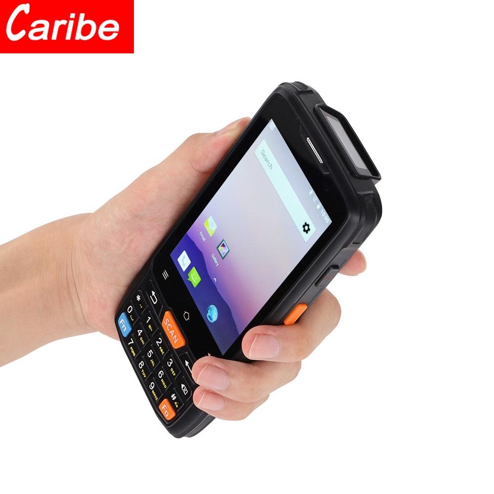 Портативный карманный NFC-терминал Карибского стандарта, 4,0 дюймов, мобильный Android 8,1, сканер штрих-кода QR-кода