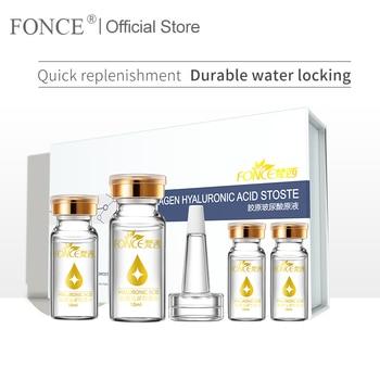 Fonce Hyaluronic Acid Anti Aging Serum Face Care Set 4x10ml Acido Hialuronico Puro Firming Moisturizing Bright Tone Shrink Pores