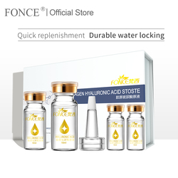 Fonce Hyaluronic Acid Anti Aging Serum Face Care Set 4x10ml Acido Hialuronico Puro Firming Moisturizing Bright Tone Shrink Pores