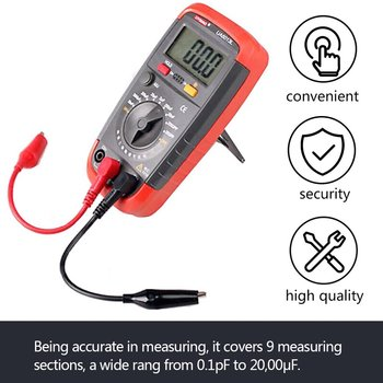 1 Pc UA6013L Auto Range Digital LCD Capacitor Capacitance Test Meter Multimeter Measurement Tester Meter Brand New zeast vc97 digital multimeter 3 3 4 capacitor frequency tester meter professional electric leads instruments lcd probe