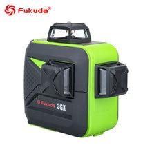 Nível do laser de fukuda 360 12/16 linhas 3d/4d giratório verde feixe laser nivelador auto nivelamento horizontal vertical cruz laser linhas
