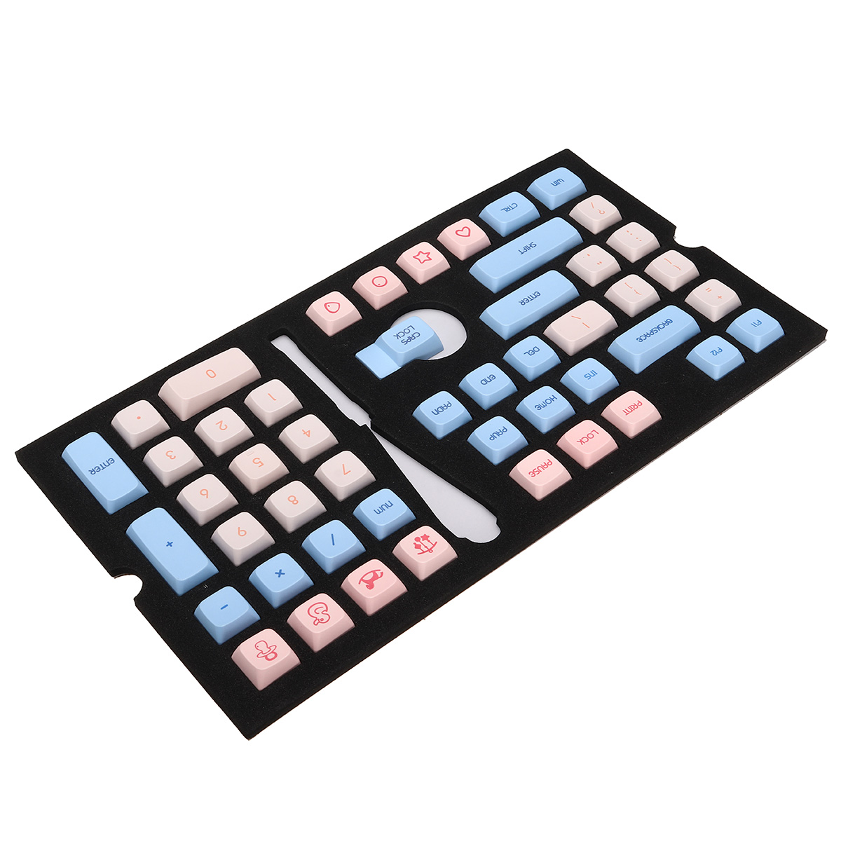 Baby Theme 104-key <font><b>Keycaps</b></font> PBT The Material Thermal Sublimation Process Keycap for Minila67 GH60/<font><b>64</b></font>/68 660m 980m image