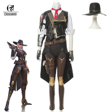 ROLECOS OW Ashe Cosplay Costume Over Watch Game Cosplay New