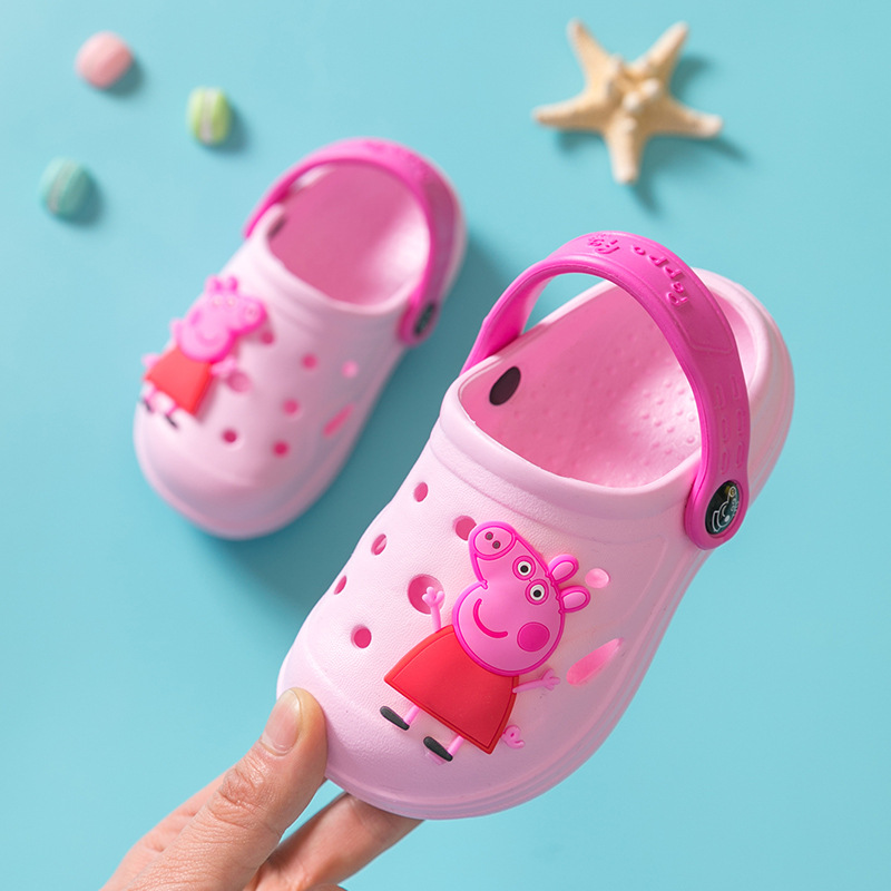 Genuine Peppa Pig Shoes Non-slip Girls Boys Baby Sandals Summer Cartoon Indoor Outdoor Shoes Peppa George Pig Slippers Toys Gift