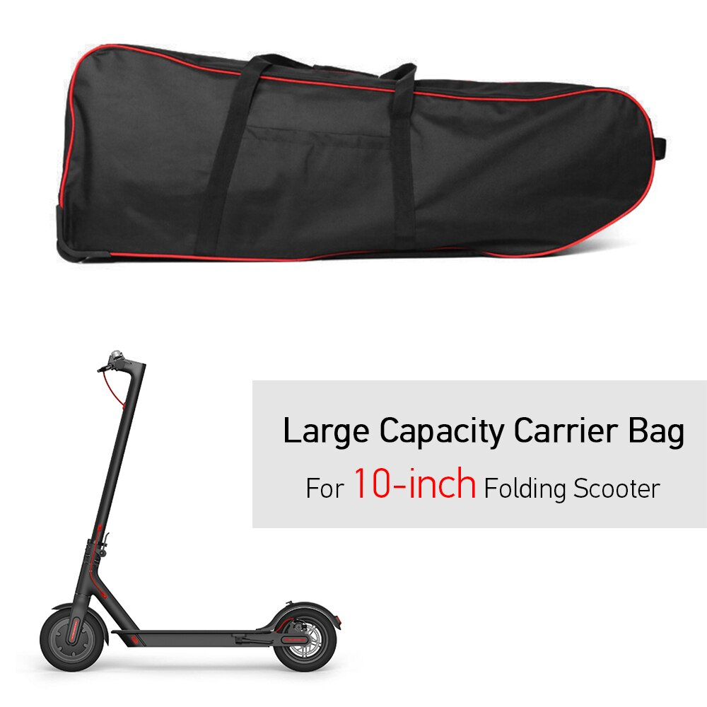 Sac de Transport Scooter grande capacité pliable pour 10 pouces pliable électrique Scooter transporteur sac de Transport sac à roulettes avec roues