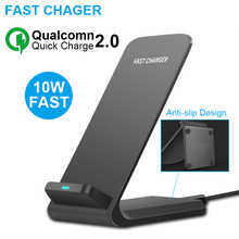 10W Fast Wireless Charger For iPhone XS Max XR X 8 Plus Fast Charging For Samsung S9 S8 Plus Note 9 8 Phone Wireless Charger ciciber dragon ball phone case for iphone 11 pro max xr x xs max tempered glass cover cases for iphone 7 8 6 6s plus funda coque