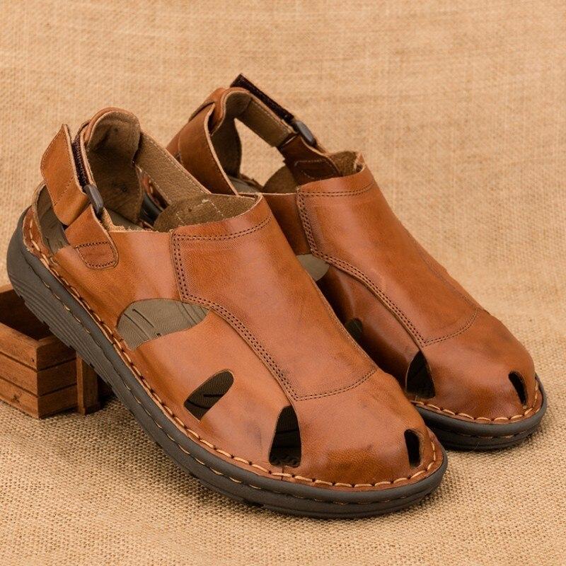 Comfort Slingbacks Gladiator Men Beach Sandals Roman Lace Up Outdoor Hollowout