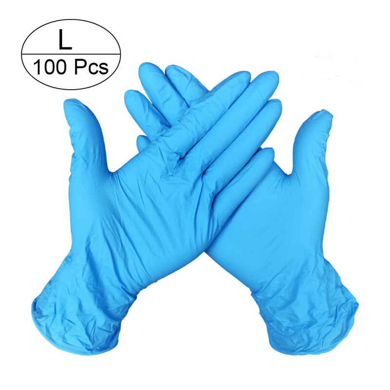 100 PCS Disposable Nitrile Gloves and Multi Purpose Latex Gloves for Virus and Flu Protection 36