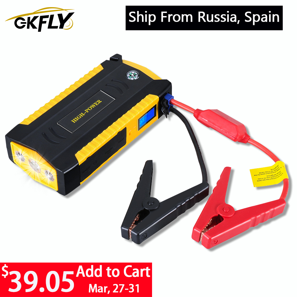 GKFLY Pro Car Jump Starter Power Bank 16000mAh 12V Portable Starting Device 600A Car Charger For Car Battery Booster Buster LED|charger for|charger for car|charger for car battery - title=