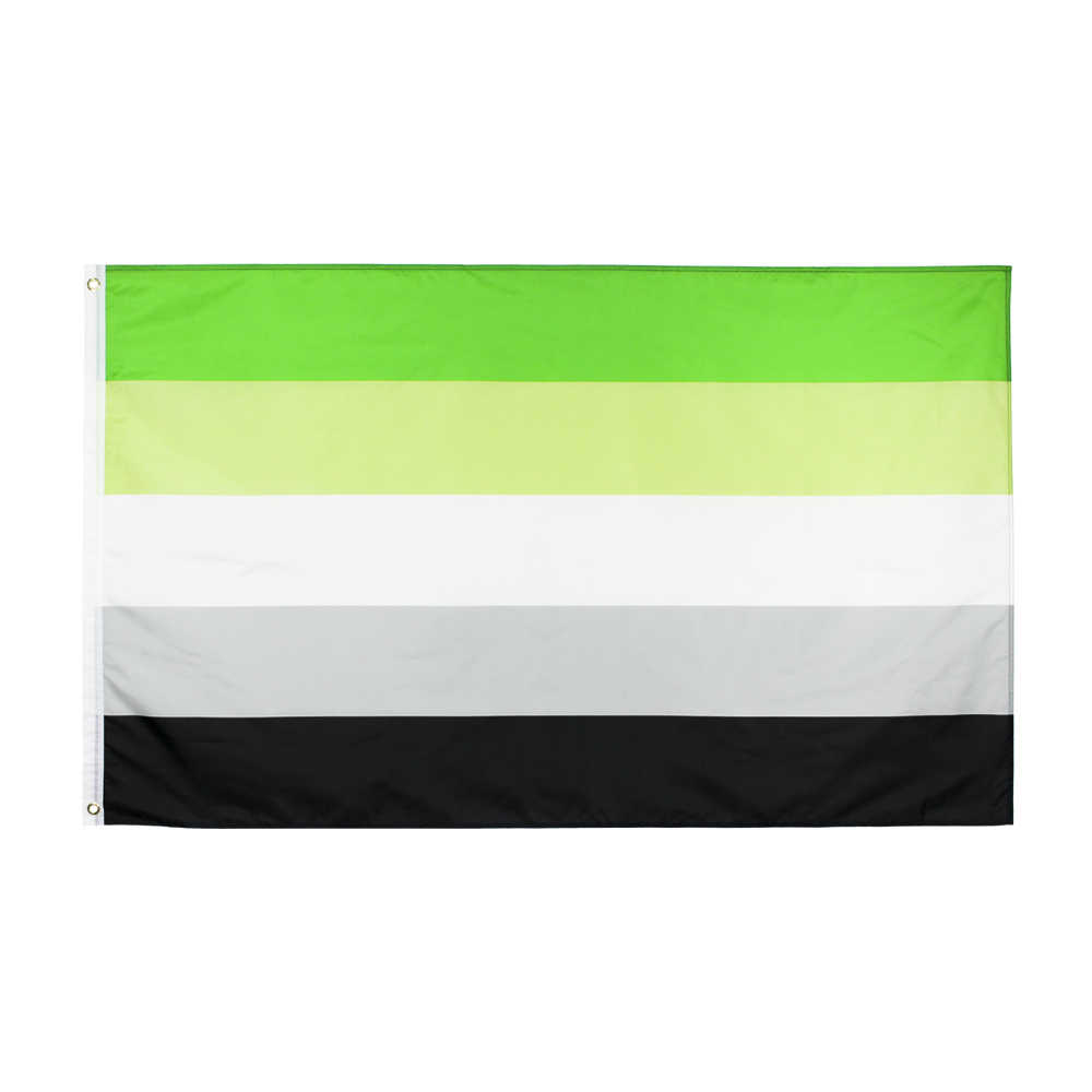 Xiangying 90X150 Cm Aseksuele Lgbt Pride Aromantic Vlag