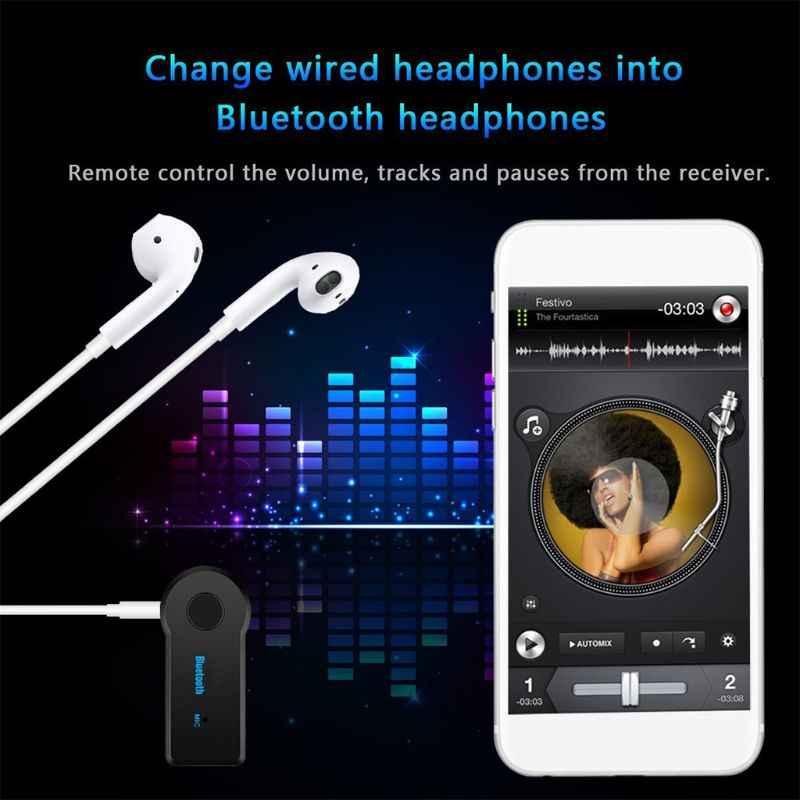Adaptador transmisor de receptor Bluetooth inalámbrico, 4,1 estéreo, Conector de 3,5mm para ordenador de coche, música, Audio Aux para auriculares manos libres