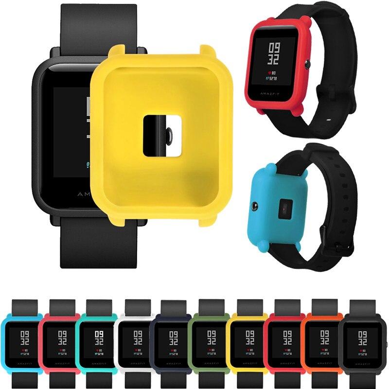 Мягкий ТПУ защитный силиконовый Полный Чехол для Huami Amazfit Bip Молодежные часы носимые устройства Фитнес браслет аксессуары