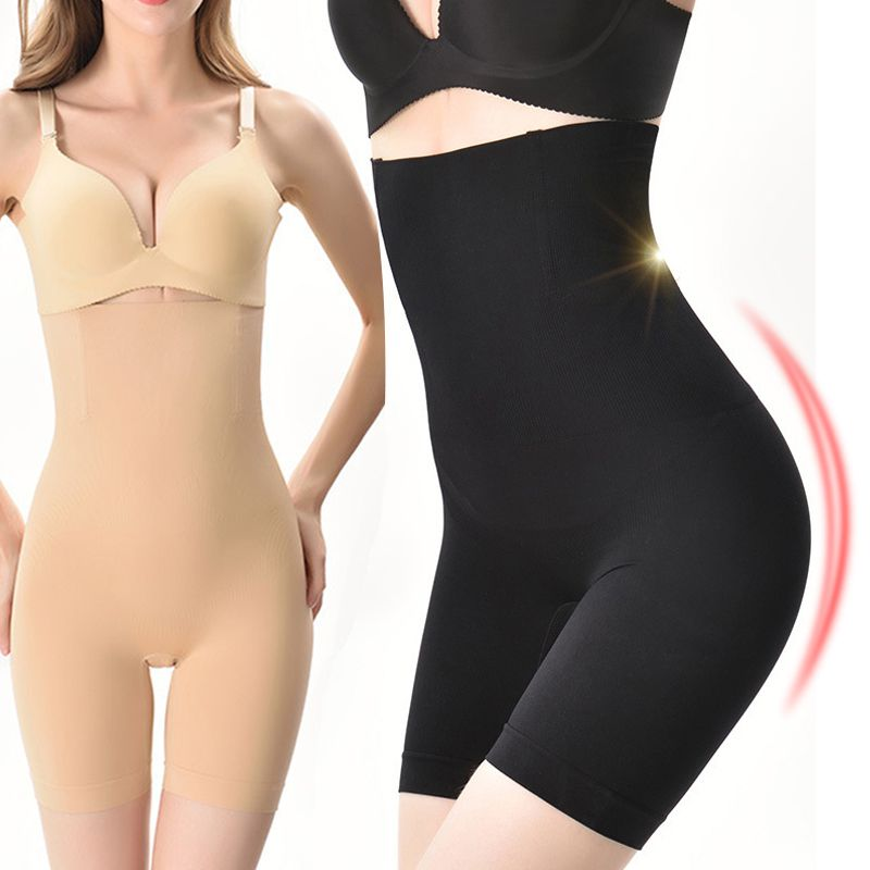 2020 Women Body Shaper Large Size High Waist Postpartum Belly Pants Body Pants Body Shaping Anti-Light Safety Underwear
