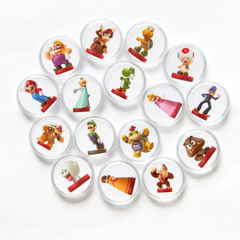 Juego de cartas de Super Mario Party NFC, colección de monedas circulares...