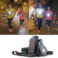 1200lm XPE Открытый Спорт ходовые огни Q5 светодиодный фонарик для ночного бега предупреждающие огни USB зарядка грудь Лампа Белый свет факел