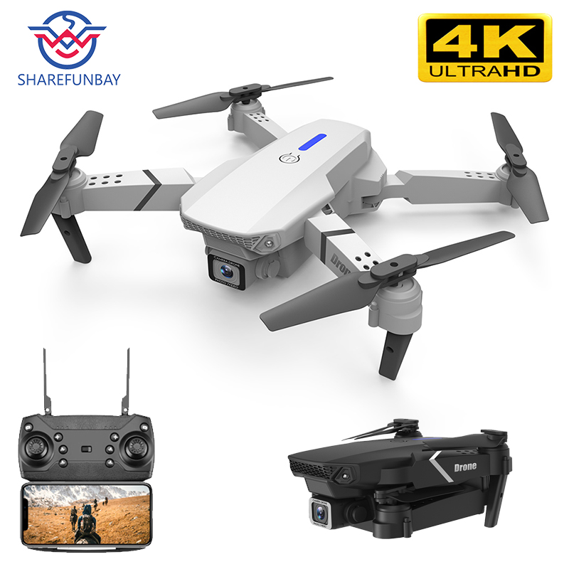 SHAREFUNBAY E525 Drone 4k HD Dual Camera 1080P WIFI Visual Positioning High Maintenance Drone With Camera Rc Quadcopter