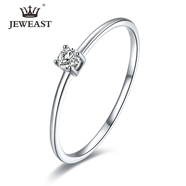 18k Pure Gold Rings Noble Diamond 750Solid Female Exquisite Elegant Precious Fine Jewelry Beautiful  Women Ring