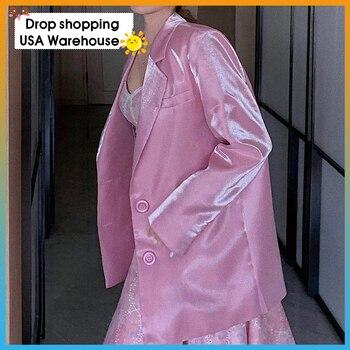 2020 summer new ladies long-sleeved blazer top girl Women Jacket single-breasted Autumn Casual Blazer Slim Fit Jacketes
