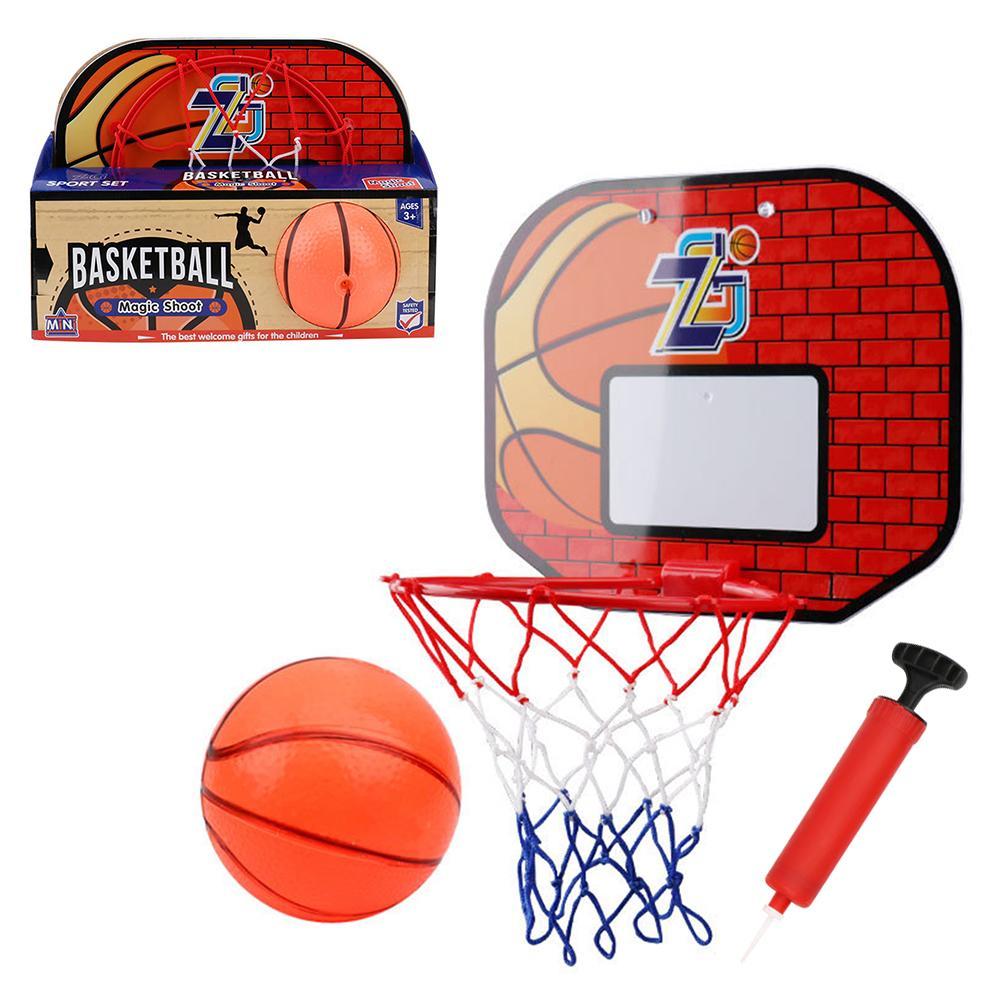 Kids Hanging Basketball Netball Hoop Indoor Basket Ball Mini Basketball Board Family Basket Game Toy Set For Children