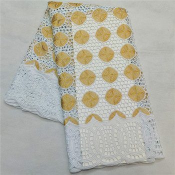 Swiss lace fabric 2020 embroidery African lace fabrics 100% cotton Dry lace Swiss voile lace in Switzerland H14-16