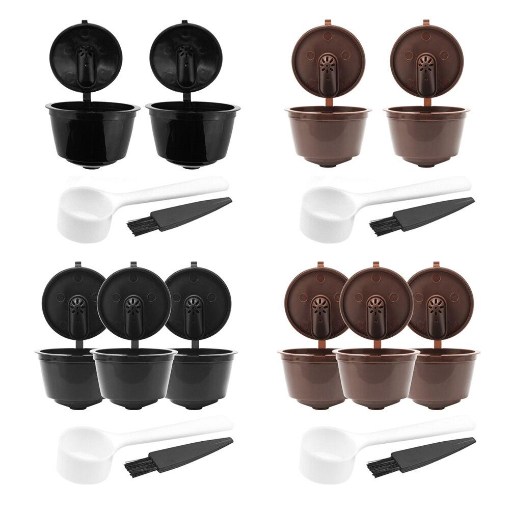 1/2/3Pcs Cafe Riutilizzabile Tazza di Caffè Capsule per Nescafé Dolce Gusto Modelli Riutilizzabile Filtri Cesti Pod morbido Gusto Dolce