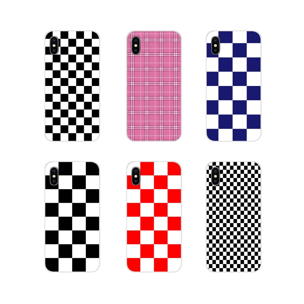 For Samsung Galaxy A3 A5 A7 A9 A8 Star A6 Plus 2018 2015 2016 2017 Accessories Phone Cases Covers Checkerboard Plaid image